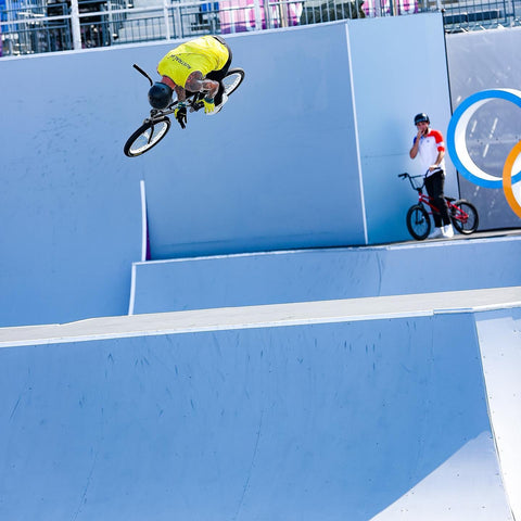 Logan Martin on his way to Gold in Freestyle BMX in Tokyo