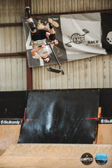 Scooter Flip Combo Trick over Box Jump RampFest Crown Scooter Competition 2021