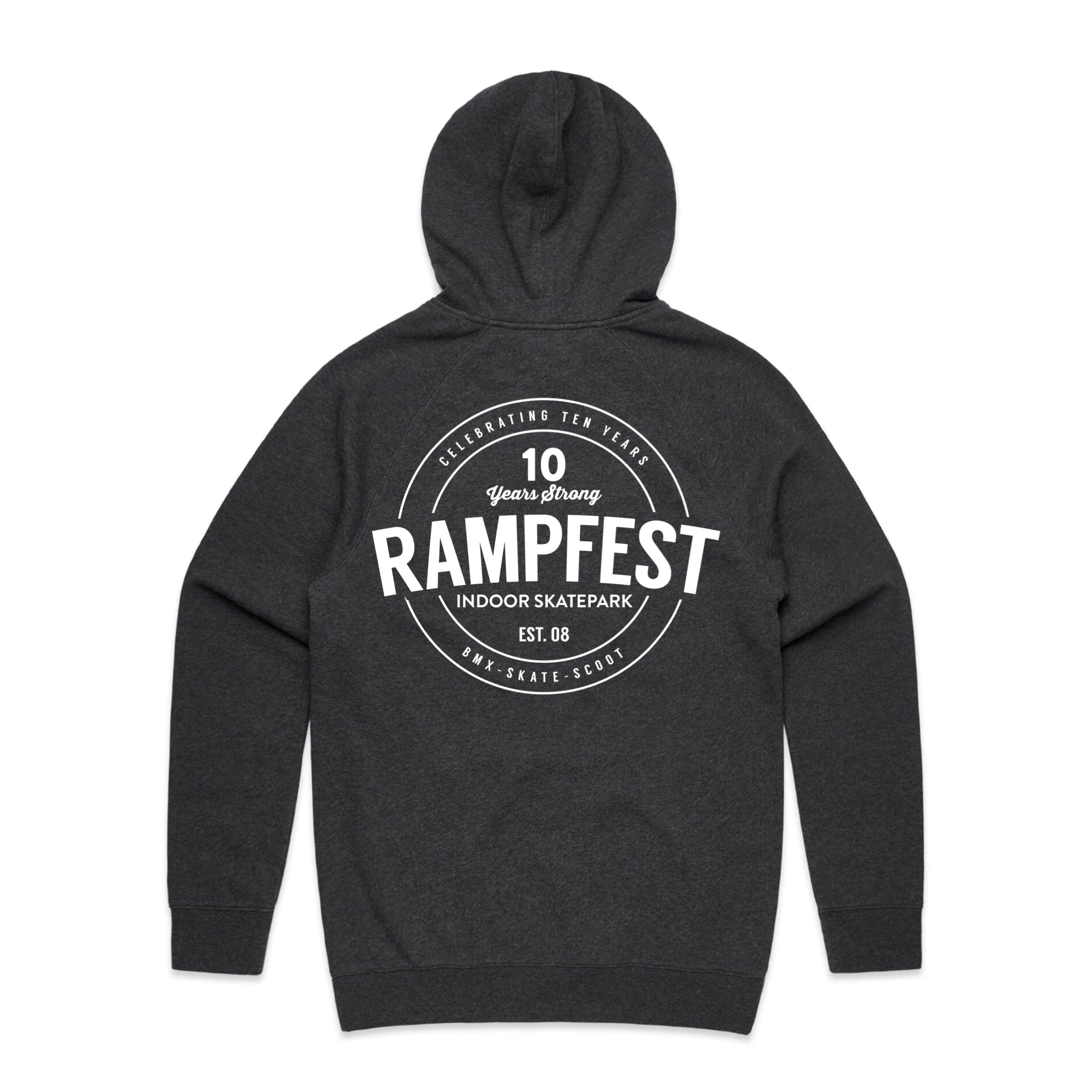 "RampFest ""10 Years Strong"" Hoodie - Asphalt Grey"