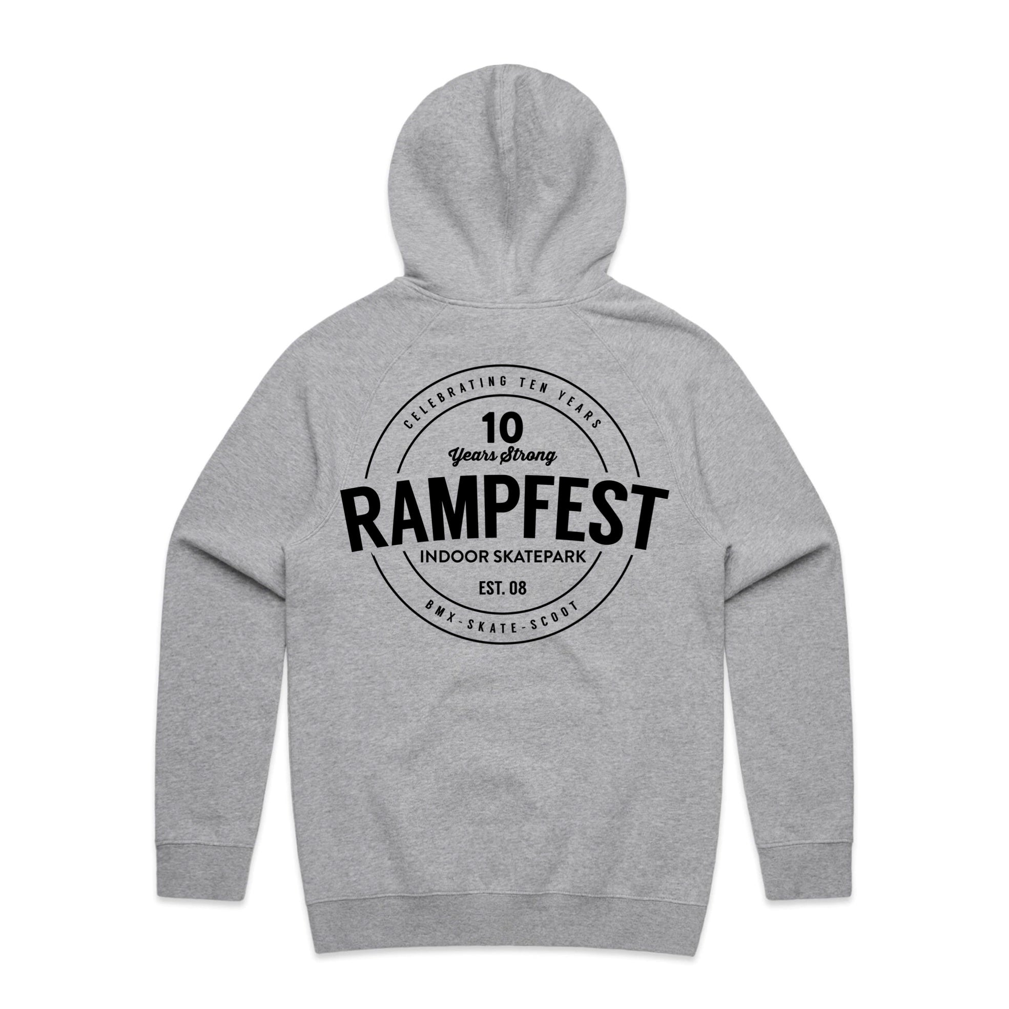 "RampFest ""10 Years Strong"" Hoodie - Youth - Light Grey"