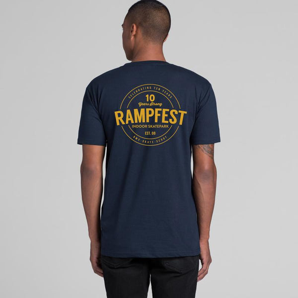 Youth Rampfest 10 Year Anniversary Tee - Navy/Gold