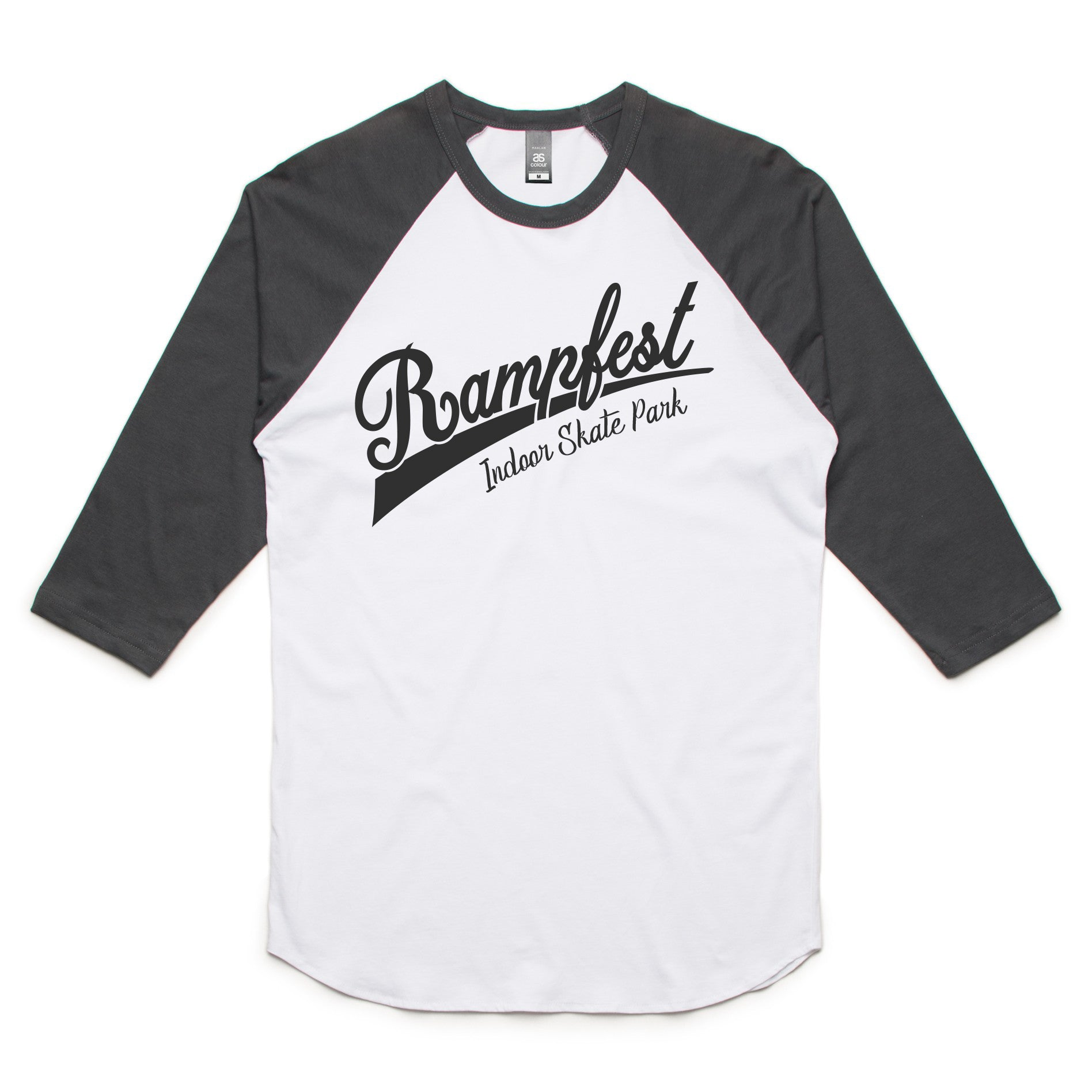 Rampfest 10 Year Baseball 3/4 Tee - Charcoal/Black