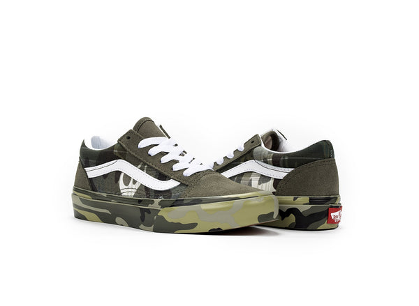 Vans Old Skool Plaid Camo (Kids)