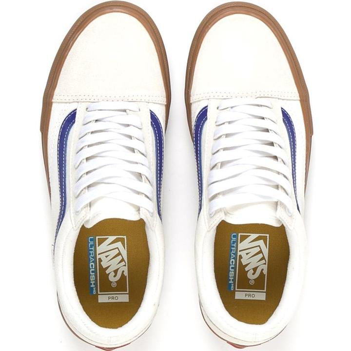 Vans Old Skool Pro - Marshmellow/Blue