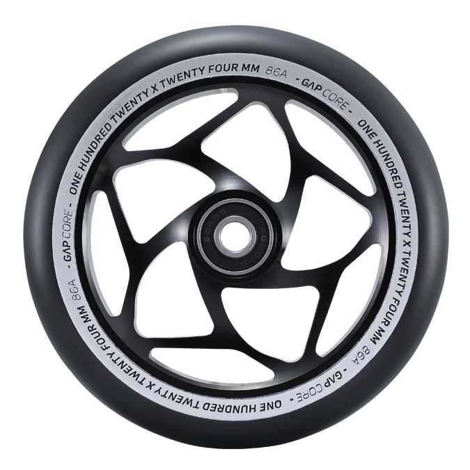 Envy Gap Core Wheels - Black/Black - 24mm x 120mm - Pair