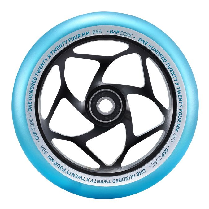 Envy Gap Core Wheels - Black/Teal- 24mm x 120mm - Pair