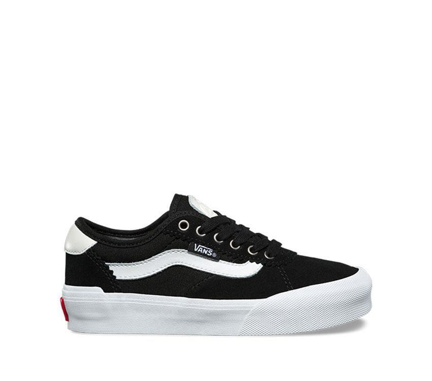Vans Chima Pro 2 - (Suede/Canvas) Black/White (Kids)