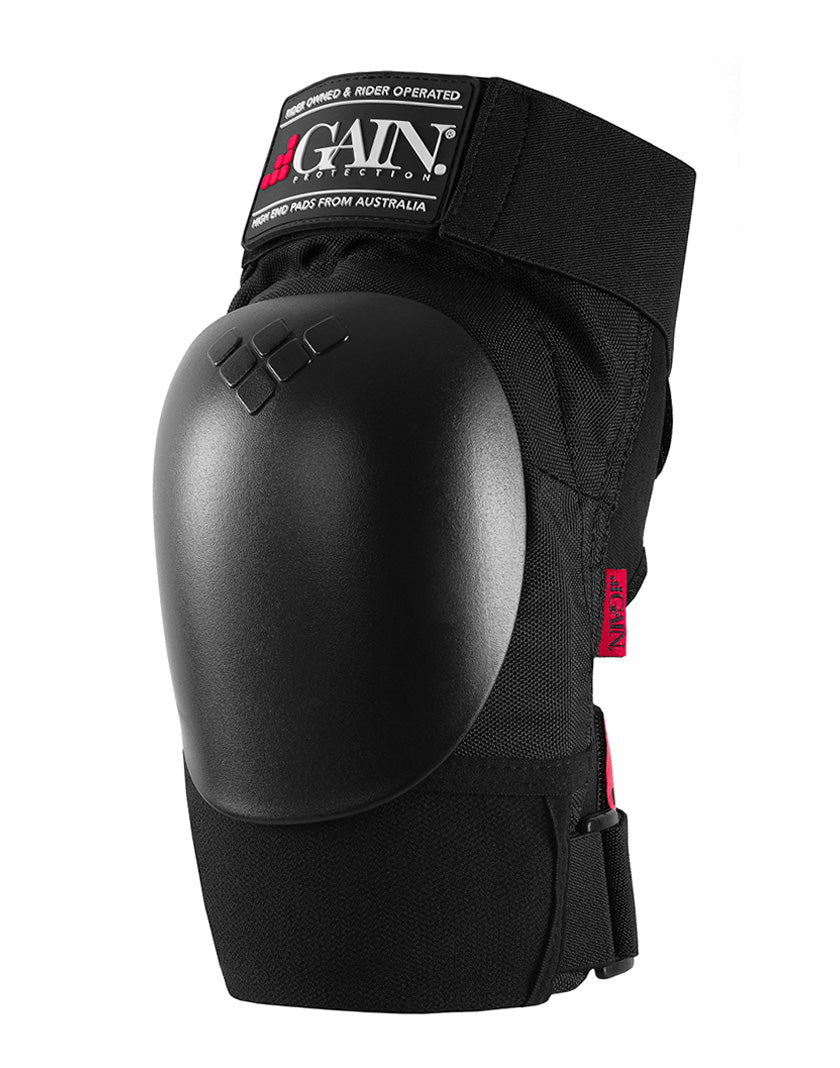 GAIN Protection THE SHIELD Hard Shell Knee Pads - Black Caps