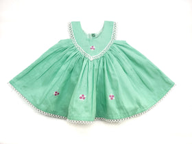 Baby Dress Green - 100% Cotton