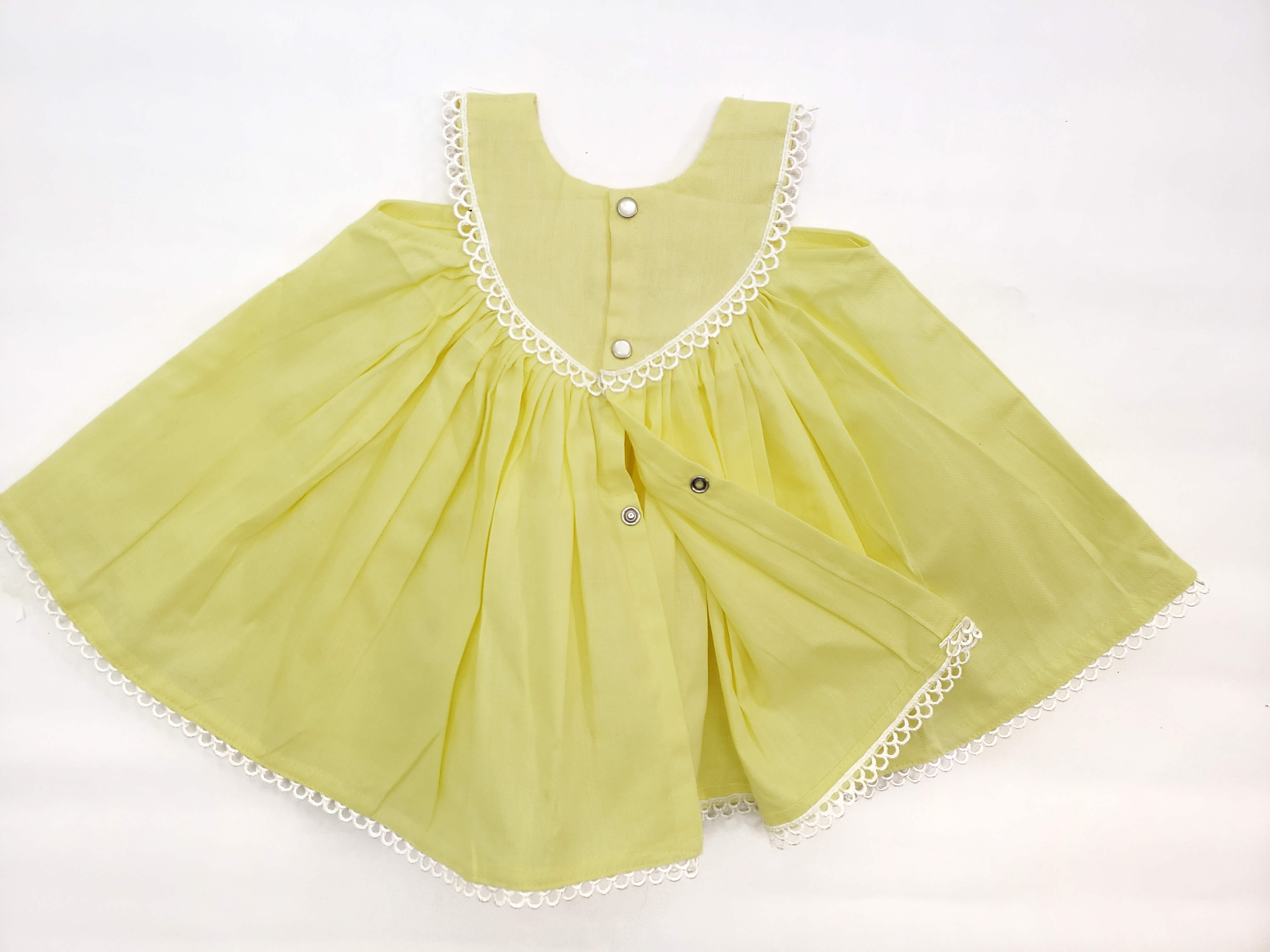 Baby Dress Yellow - 100% Cotton