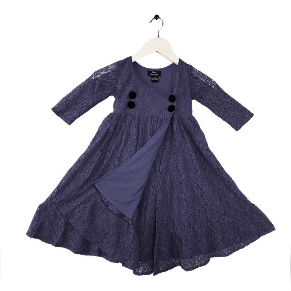 Lace Dress Navy Blue