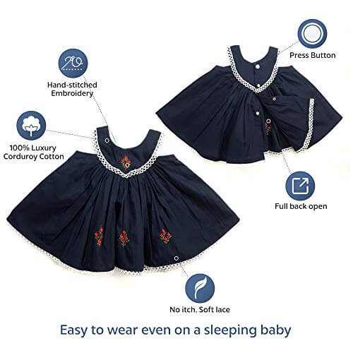 Baby Dress Blue - 100% Cotton