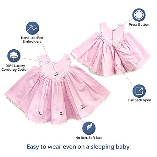 Baby Dress Pink - 100% Cotton