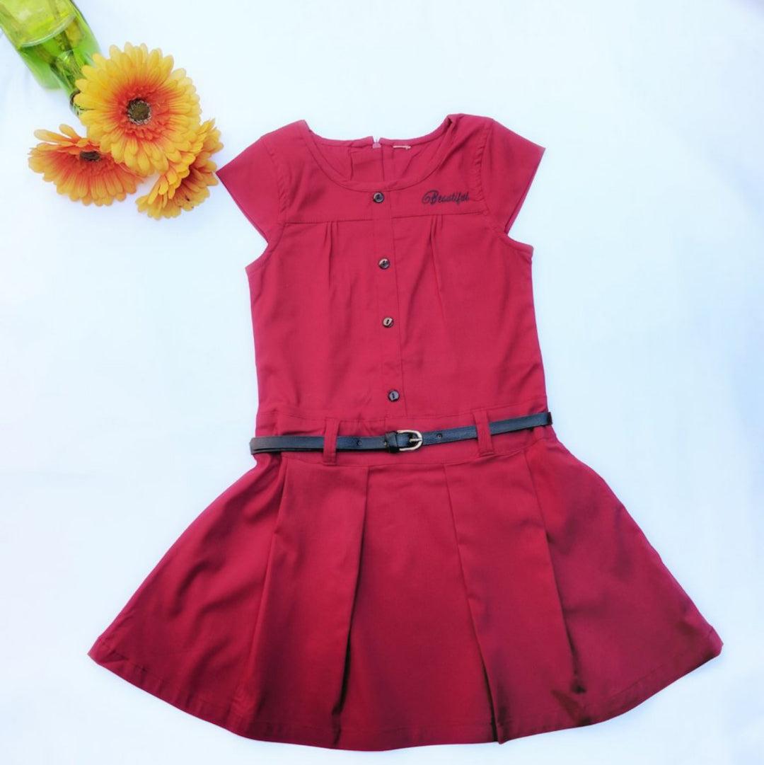 Classy Zara - Cranberry Red with accessories
