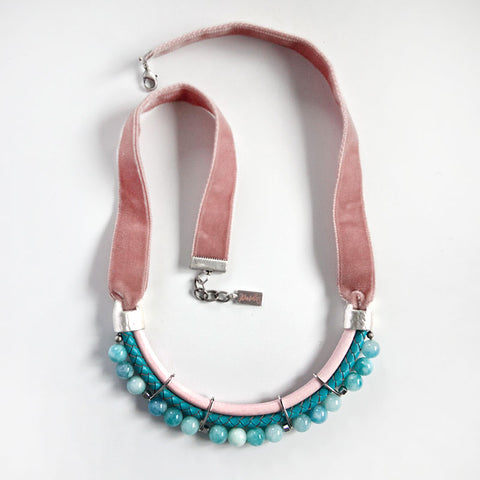 Pastel Velvet Necklace