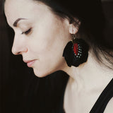 Black and Red Wings Earrings