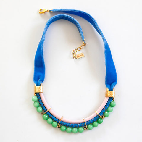Bright Velvet Necklace