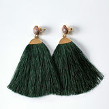 Emerald Tassels Earrings