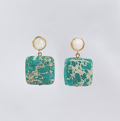 Sea Jasper Earrings
