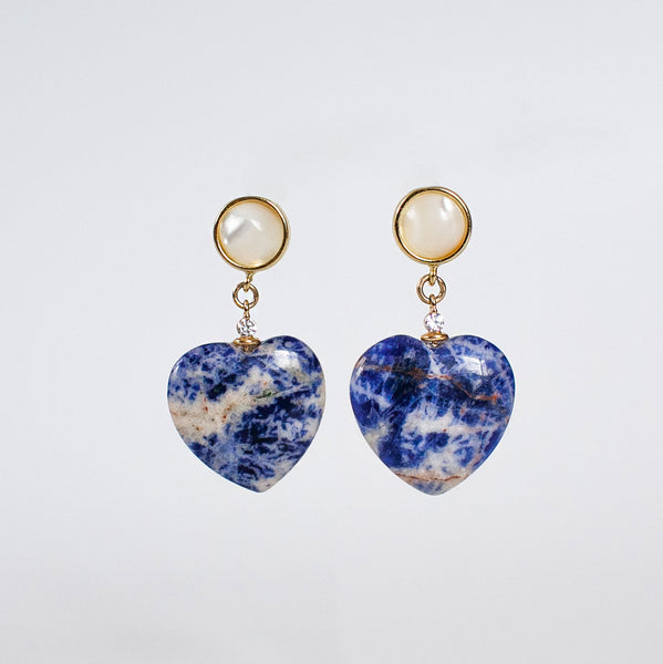 Hearts Sodalite Earrings