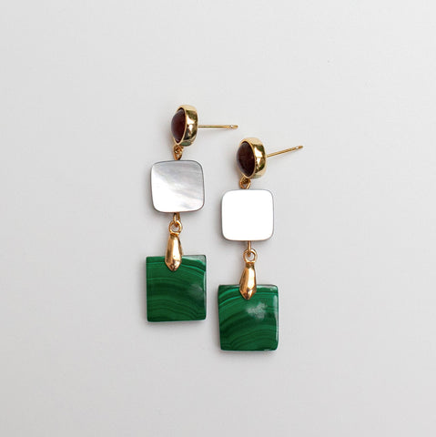 Malachite & MOP Earrings