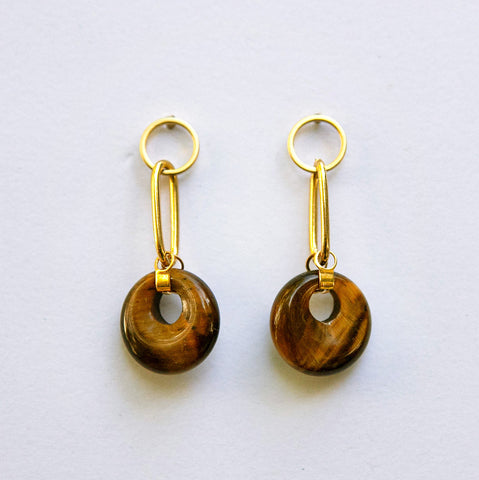 Tigers Eye Earrings