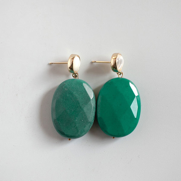 Teal Agate Earrings