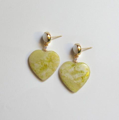 Hearts Lemon Earrings