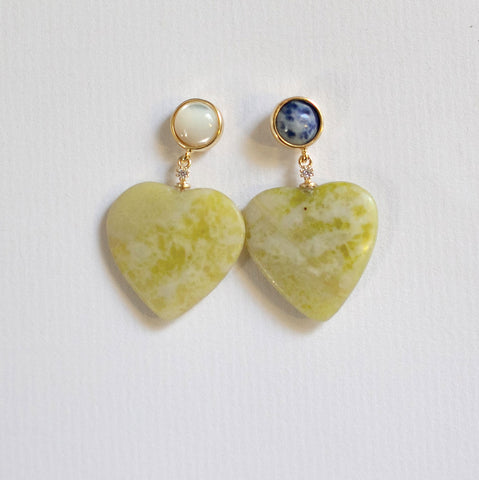 Hearts DUO Lemon Earrings