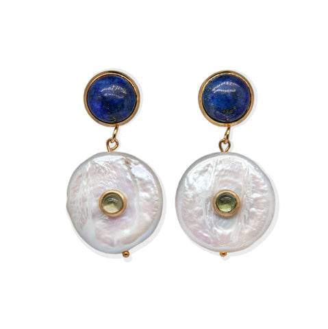 Lapis Lazuli & Pearls Earrings
