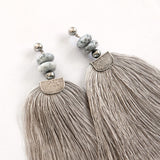 Silver Tassels Earrings