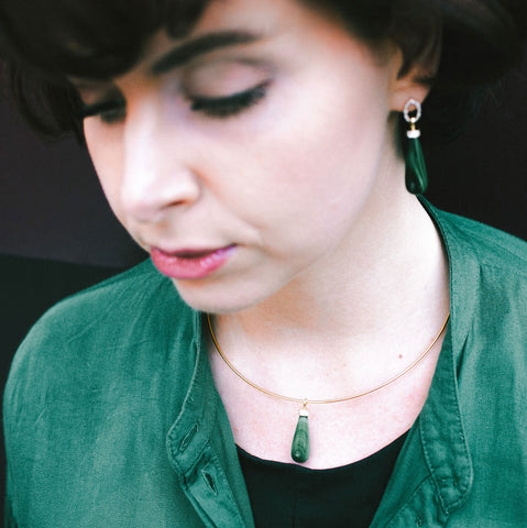 Malachite Teardrop Necklace