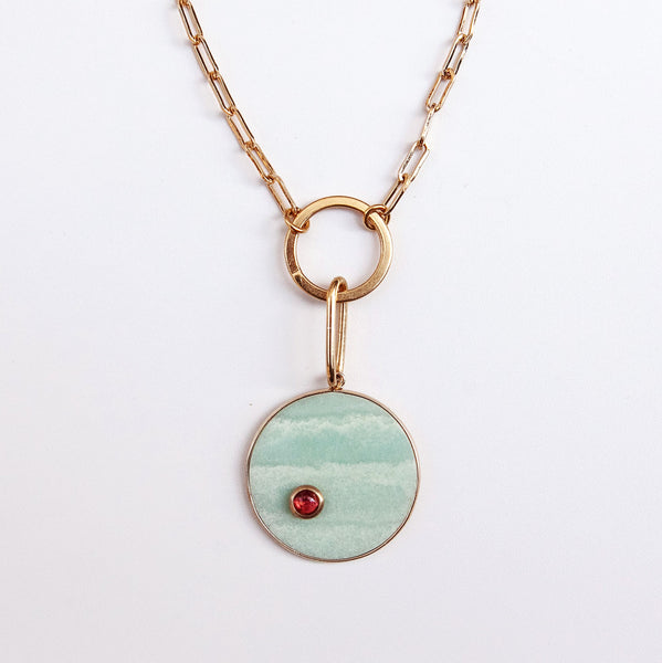 Breeze Charm Necklace in light blue