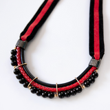 Black and RED Velvet Necklace