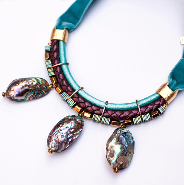 Statement Abalone Necklace