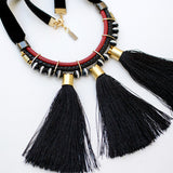 Statement Tassels Necklace