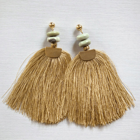 Gold Tassels Earrings