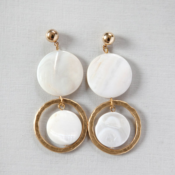 Two Pearl Ring Earrings