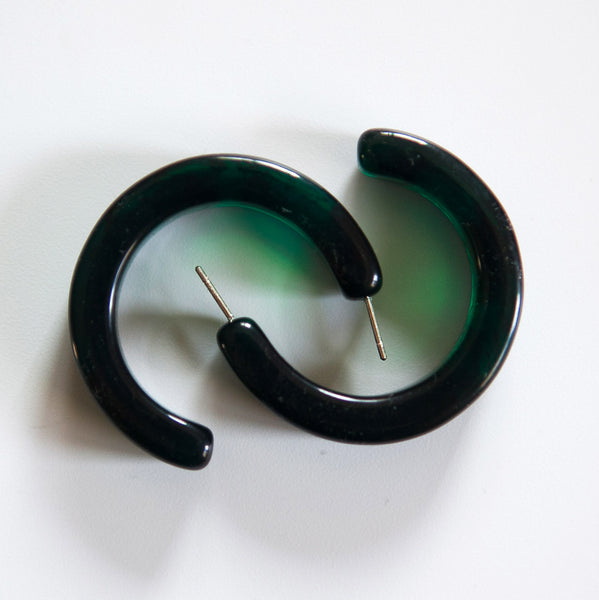 Resin Hoops Earrings