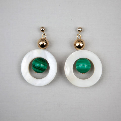Malachite&MOP Earrings