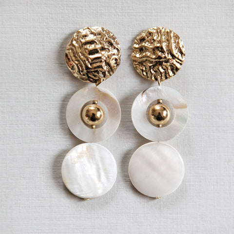 Two Pearl Rings Earrings