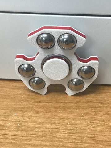 white red white shield fidget spinner usa