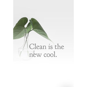 Clean . . . Is the new cool.