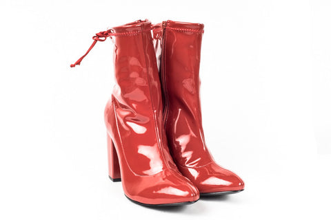 Vicenza -  Red Patent Stretch Boot