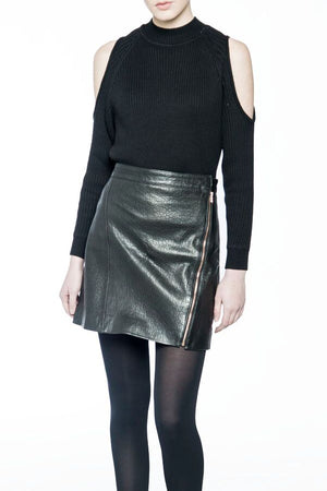 Marie Leather Skirt
