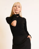 SARA ARMSTRONG - Subtraction Turtleneck, Black
