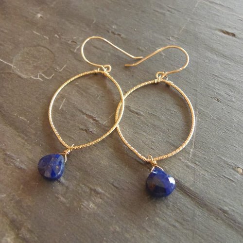Lapis Lazuli Drops - Earrings