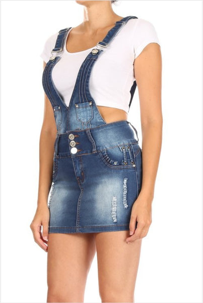 Colombian Denim Push Up Overall Skirt