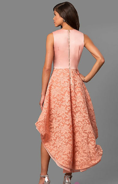 Pink/peach Sleeveless HiLo  Dress