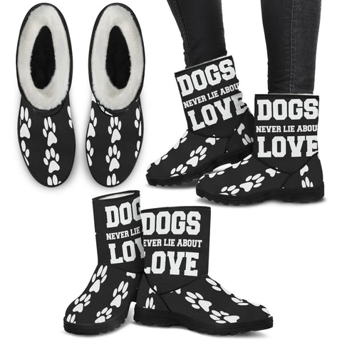 Dogs Never Lie About Love - Paws Pattern